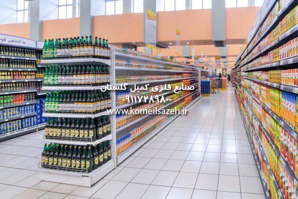 قفسه فروشگاهی قیمت قفسه سوپرمارکت قفسه فلزی سوپرمارکت قفسه بندی سوپرمارکت خرید نصب فروش