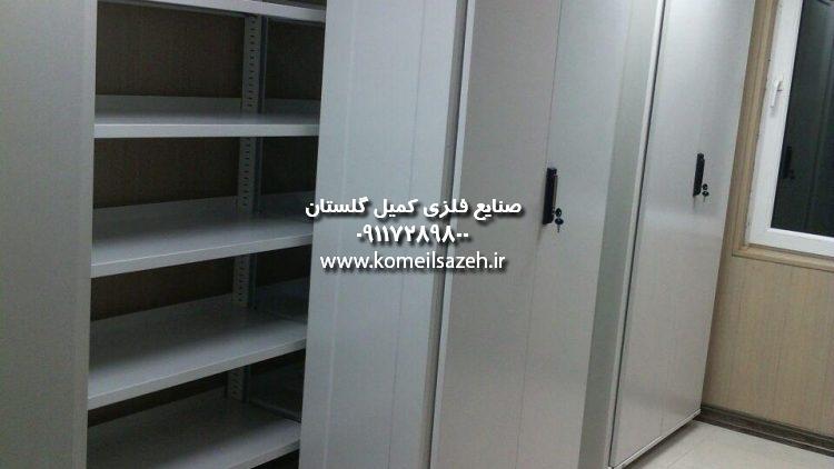 فروش قفسه بایگانی ریلی قفسه بندی فلزی بایگانی اداری