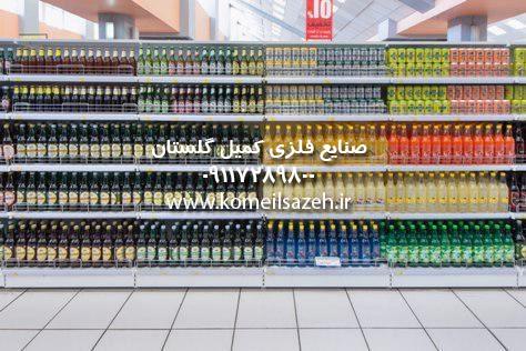 قفسه فلزی فروشگاهی قفسه فروشگاهی قفسه بندی فلزی مغازه سوپرمارکت
